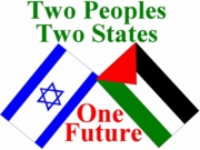 Israeli Palestinian Flag Peace Poster 11 x 17""