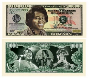 James Brown Commemorative Dollar Bill Bookmark