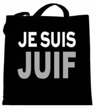 JE SUIS JUIF Tote Bags - Say No To Anti-Jewish Racism - Show Your Solidarity!