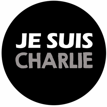"JE SUIS CHARLIE Buttons in three sizes- 1.25"" 2"" 3"" - Show Your Solidarity!"
