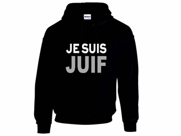 JE SUIS JUIF Hoodie - Say No To Anti-Jewish Racism - Show Your Solidarity!