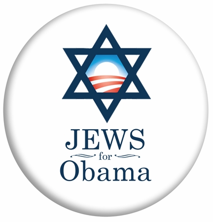 Jews For Obama Button