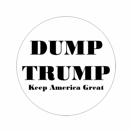 DUMP TRUMP KEEP AMERICA GREAT BUTTON