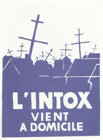 "L'Intox Vent a Domicile - Paris May 1968 Street Poster 11"" x 17"""