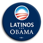 Latinos For Obama Button