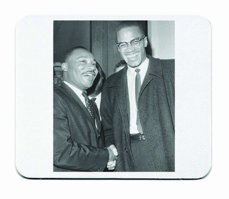 Malcolm X Meets Martin Luther King Mouse Pad