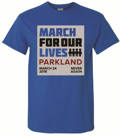 March For Our Lives- Royal Blue T-Shirt