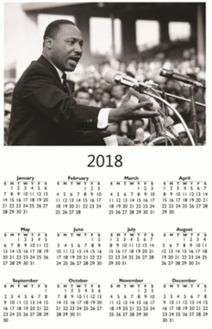 "Martin Luther King Jr. 2018 Wall Calendar 11"" X 17"""