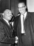 Martin Luther King & Malcom X Poster 11 X17""