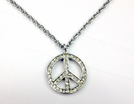 Medium Peace Pendant Necklace