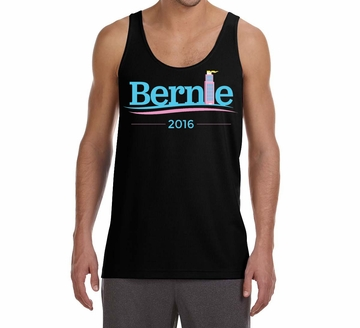 "Mens Art Deco ""Bernie 2016"" Tank Top"