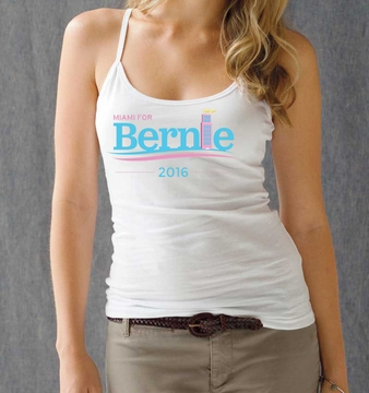 Miami for Bernie White Women's Art Deco Tank Top