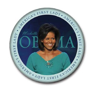 Michelle Obama First Lady Inaugural Pin Button 3""