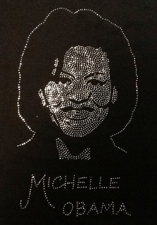 Michelle Obama Rhinestone Shirt