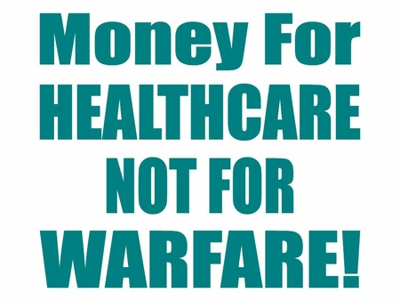 Money For Healthcare Not Warfare T-Shirt