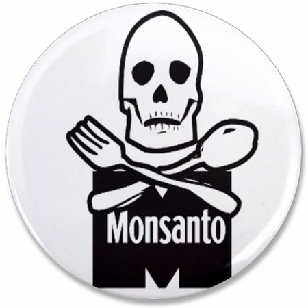Monsanto Death Reaper No GMO Button
