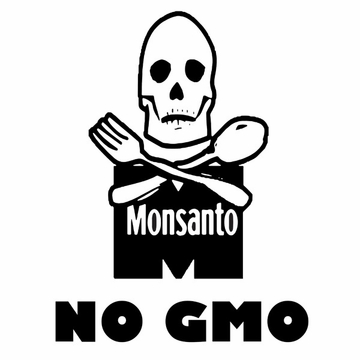 Monsanto Death Reaper  No GMO Organic Cotton Shirt