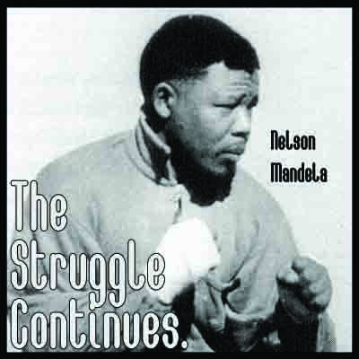 Nelson Mandela The Struggle Continues Poster 11 x 17""