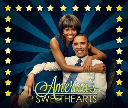 New! America's Sweethearts Michelle and Barak Obama Mousepad