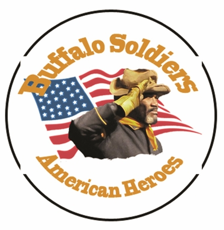 New! Buffalo Soldier Button