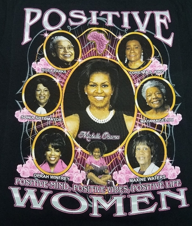 New! Positive Women T-Shirts with Michelle Obama