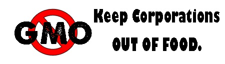 No GMO Keep Corporations Out Of Food Bumper Sticker