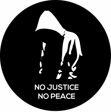 No Justice No Peace Trayvon Martin Button