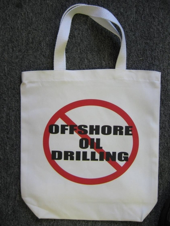 No Offshore Oil Drilling Tote Bag