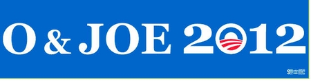 O & Joe 2012 Bumper Sticker