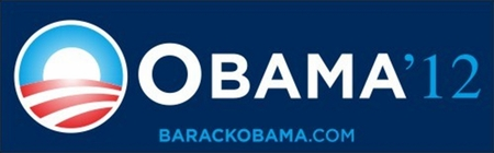 Obama '12 Blue Bumper Sticker