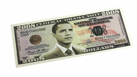 Obama 2008  Dollar Bill Book Mark