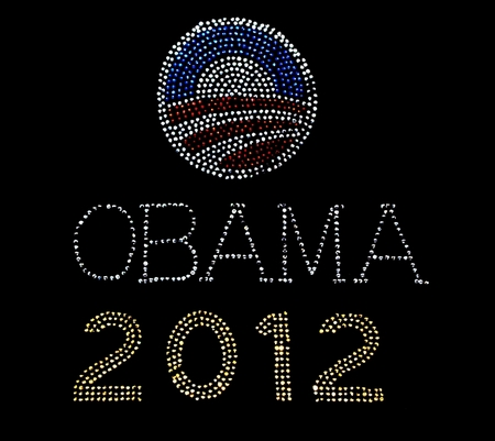 Obama 2012 Logo Rhinestone Shirt