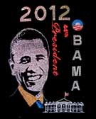 Obama 2012 White House 44th President Rhinestone T-Shirt