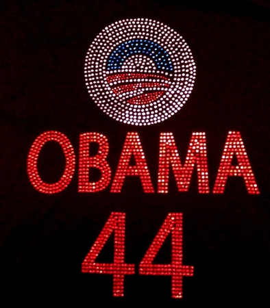 Obama 44 Logo Rhinestone Shirt