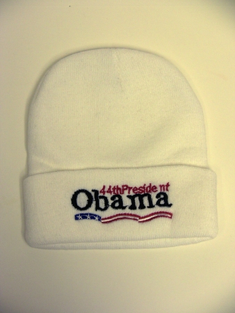 Obama 44th President White Wool Cap