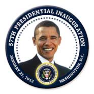 Obama 57th Inauguration Seal button