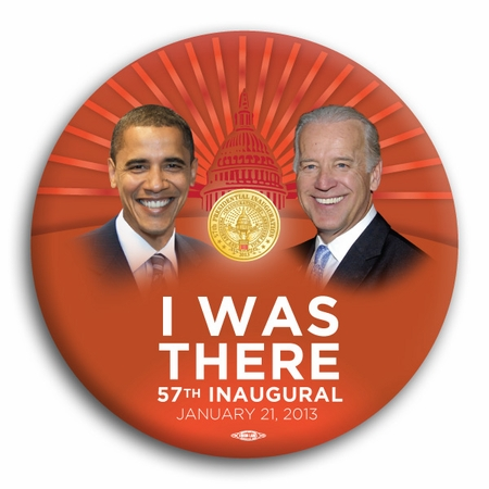 Obama Biden 2013 57th Inauguration Commemorative Buttons