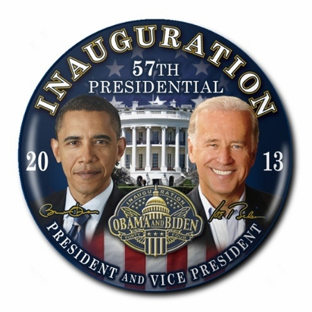 Obama Biden 2013 Inauguration Commemorative Button