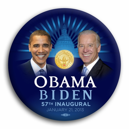 Obama Biden 57th Inaugural Button