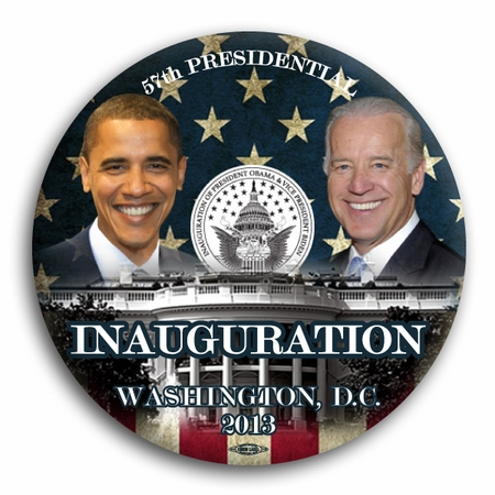 Obama Biden Smiling 57th Inaugural Commemorative Button