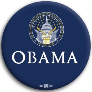 Obama Blue Inaugural Seal Pin Button 3""