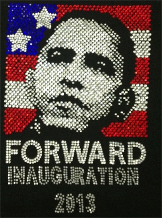 Obama Forward Inauguration Rhinestone Shirt