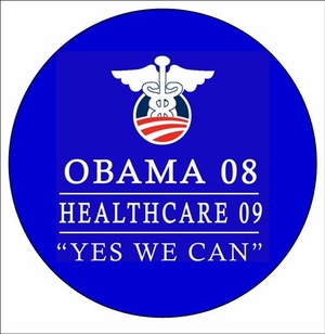 Obama Healthcare '12 Button