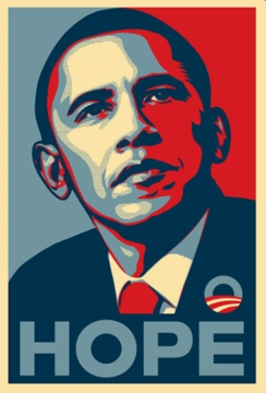 "Obama ""Hope"" Poster 11"" X 17"""