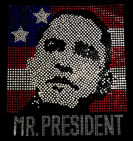 "Obama ""Mr President"" Rhinestone Shirt"