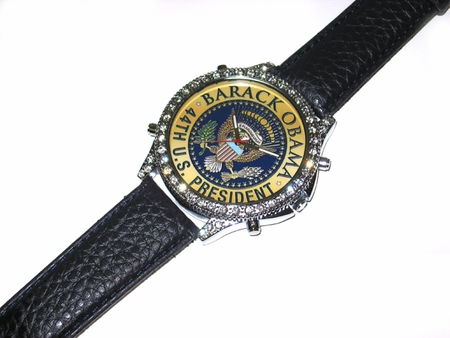 Obama Presidential Seal Rhinestone Watch