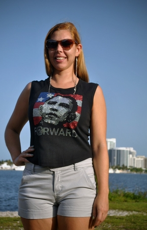 Obama Rhinestone 2012 Forward Women's Sleeveless Shirt