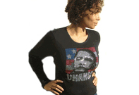 Obama Rhinestone Womens Longslieve Shirt