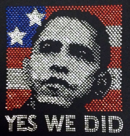 "Obama Rhinestone ""Yes We Did"" T-Shirt"