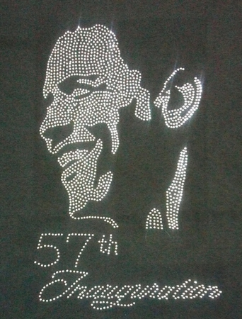 Obama Smiling 57th Inaugural Rhinestone T-Shirt